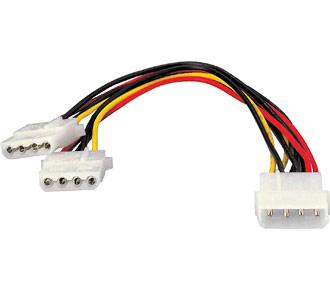 Stromkabel Equip Y-Kabel 1x 13,3cm > 2x 13,3cm St/Bu  0,20m