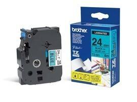 BROTHER P-Touch TZE-551 schwarz auf blau 24mm