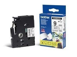 BROTHER P-Touch TZE-FX221 schwarz auf weiss 9mm