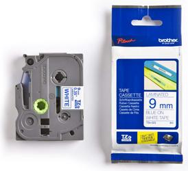 BROTHER P-Touch TZE-223 blau auf weiss 9mm