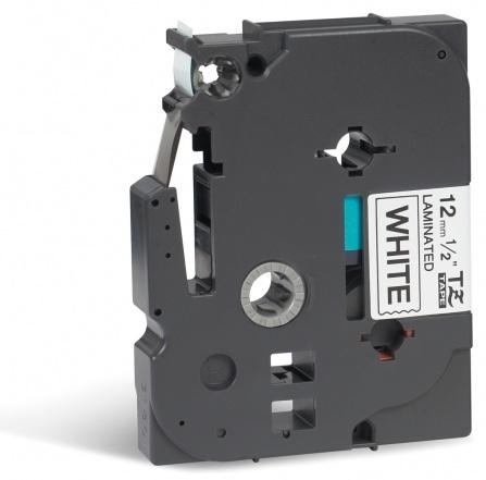 BROTHER TZE231 Schriftbandkassette 12mm8m weiss/schwarz P-touch 200/300/500series