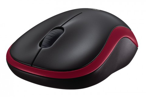 LOGITECH M185 cordless Notebook Mouse USB black red