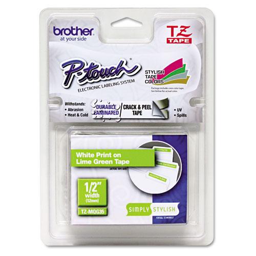 BROTHER TZEMQL3 Schriftbandkassette 12mm hellgrau matt/weiss