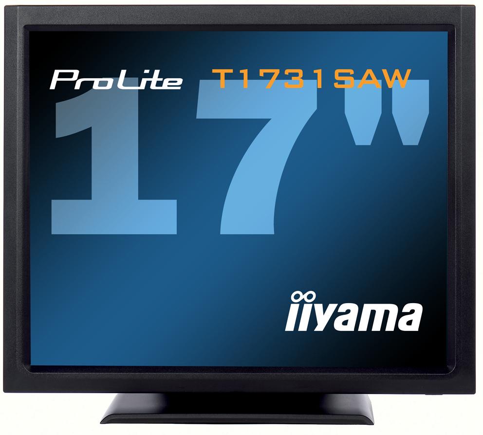 IIYAMA ProLite T1731SAW-B1 43cm 17Zoll SAW Touch  5ms DVI USB RS232 230cd/m  Lautsprecher schwarz