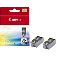 CANON CLI-36 Tinte farbig 2-pack blister mit Alarm