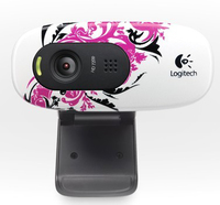 Logitech HD Webcam C270 Floral Foray Black