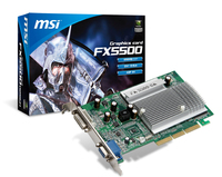 MSI NVIDIA GeForce FX5500 256MB DDR