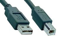 V7 USB 2.0 Kabel USB A zu B (m/m) grau 1,8m