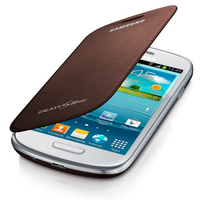 Samsung Galaxy S3 Mini Flip Cover Amber Brown