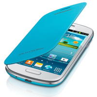 Samsung Galaxy S3 Mini Flip Cover Light Blue