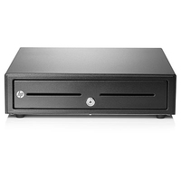 HP Standard Duty Cash Drawer Black cash & ticket box