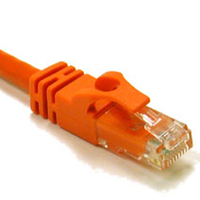 C2G 125ft Cat6 550MHz Snagless Patch Cable Orange 37.5m Orange networking cable