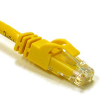 C2G 125ft Cat6 550MHz Snagless Patch Cable Yellow 37.5m Yellow networking cable