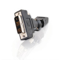 C2G HDMI™ Female to DVI-D™ Male 360° Rotating Adapter HDMI DVI-D Black cable interface/gender adapter