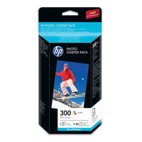 PACK DE DEMARRAGE PHOTO HP300 50 FEUILLES 10 X 15