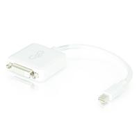 20cm Mini DisplayPort M to DVI F WHT