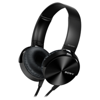 Comfortably big bass headphone Black