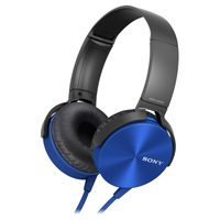 Comfortably big bass headphone Blue