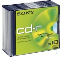 CD-R 80MIN SONY 700MO PK10 boitier slim