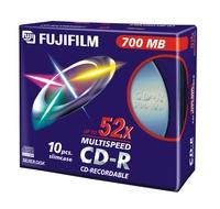CD-R FUJI 80MIN/700MO PK10 52X BOITIER SLIM