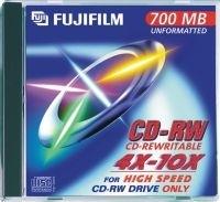 CD-RW FUJI 80MIN/700MO PK10 4x/12x BOITIER CRISTAL