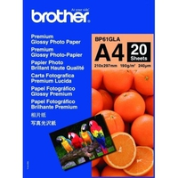 PAPIER PHOTO BRILLANT BROTHER 20 feuilles format A4 190g/m²
