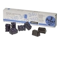 5 Bâtonnets ColorStix Cyan + 2 Noirs gratuits  (5 500 pages)  pour   XEROX PHASER 340/350/360