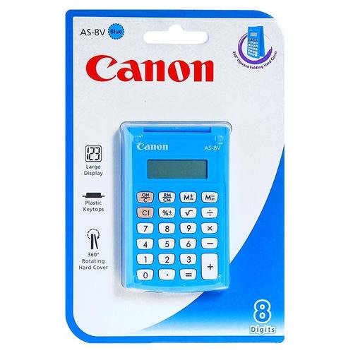 Canon AS-8 Poche Calculatrice basique Bleu