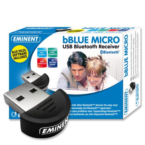 Netwerk adapter Eminent bBLUE MICRO USB Bluetooth Receiver Class 2 - 20 m