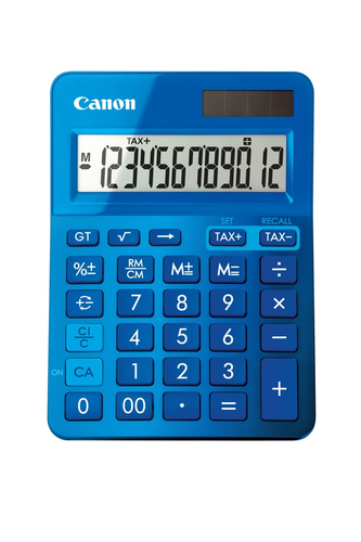Canon LS-123k Bureau Calculatrice basique Bleu