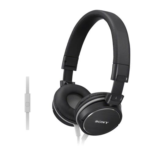Hoofdtelefoon Sony Lichtgewicht hoofdtelefoon met hoofdband en afstandsbediening in het snoer