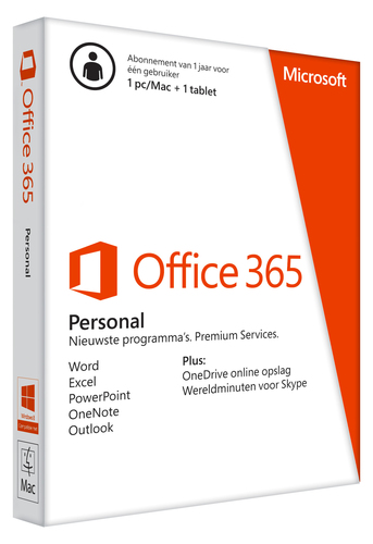 Desktop Applicatie Microsoft Office 365 Personal – 1 pc's of Macs en 1 tablets