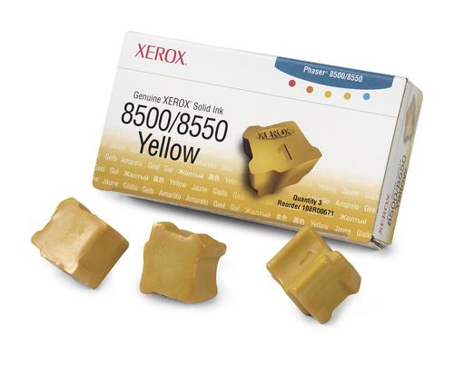 Inktpatroon Xerox Originele Solid Ink 8500/8550 geel (3 blokjes)