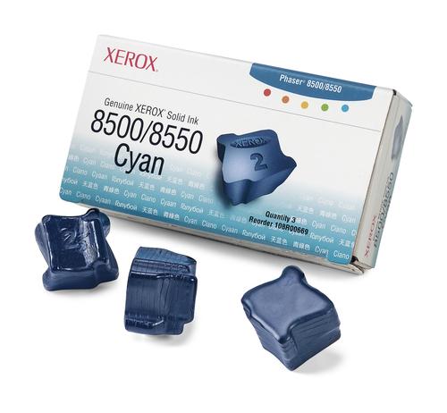 Inktpatroon Xerox Originele Solid Ink 8500/8550 cyaan (3 blokjes)