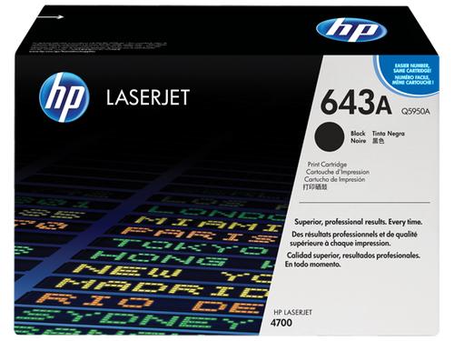 Toetsenbord HP 643A originele zwarte LaserJet tonercartridge