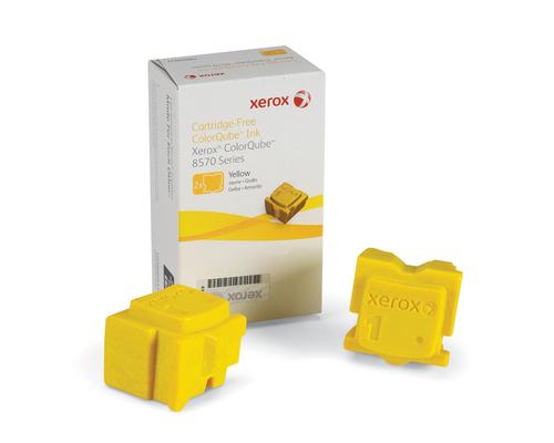 Inktpatroon Xerox ColorQube 8570 inkt, geel (2 Blokjes 4.400 Pagina's)