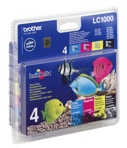 Inktpatroon Brother Kit: 4x Inktcartridges