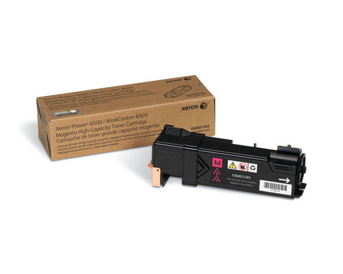 Inktpatroon Xerox Phaser 6500/WorkCentre 6505, Grote capaciteit tonercartridge, magenta (2.500 pagina's)