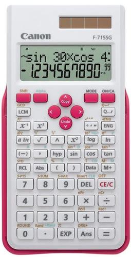 Canon F-715SG Poche Calculatrice scientifique Rose, Blanc