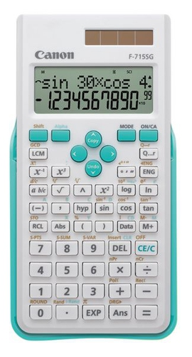 Canon F-715SG Bureau Calculatrice scientifique Bleu, Blanc