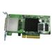 Dual-wide-p storage exp card SAS 6Gbps.