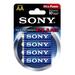LR6 4 stk. Sony 1,5v Batteri
