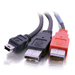 USB 2.0 Y-cable Mini-b Male To 2 USB A Male