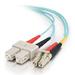 Fibre Optic Cable Sc-sc 10GB 50/125 Om3 Duplex Multimode Pvc (lszh) Aqua 2m