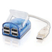 Cbl/USB 2.0 4-port LAPTOP HUB W/LED