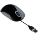 Cord Storing Mouse USB Black Grey