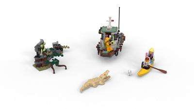 Animal 70419 Hidden Side Reptile MINI FIGURE LEGO ALBINO CROCODILE