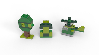 *NEW* 50 Pieces Lego Bright Green Apple with Leaf