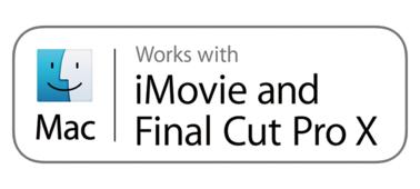 iMovie ve Final Cut Pro X ile çalışır