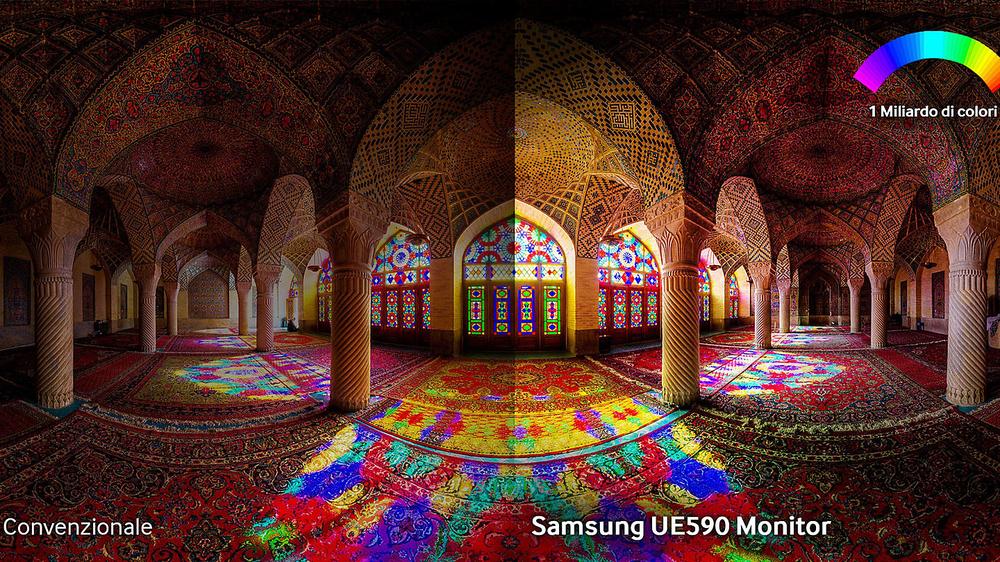 Qualità delle immagini senza paragoni con una risoluzione di massima precisione e miliardi di colori